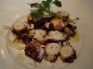 Grilled octopus at Estiatorio Milos