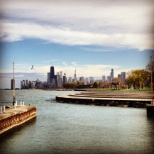 Skyline from Diversey Harbor, Chicago